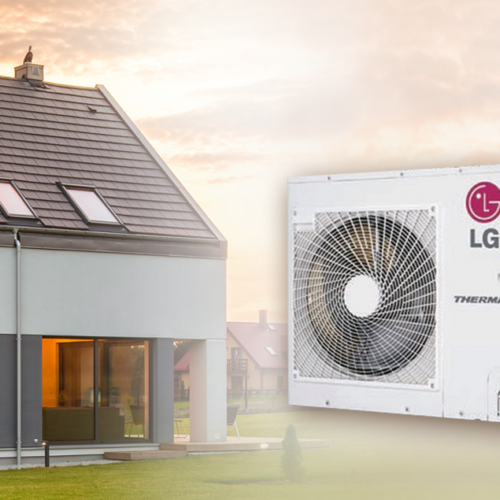 LG Therma V — HN1616.NK3, HU051.U43  Инверторный тепловой насос воздух-вода (220 V) (5 кВт)