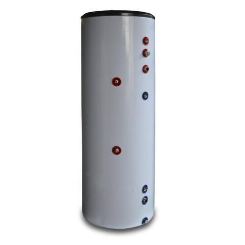 Нержавеющий бак нагрева ГВС Raymer HWS 200 на 200 литров (встроенный тэн 3 кВт, змеевик 35 м.п. ревизионное окно), встроенный анод
