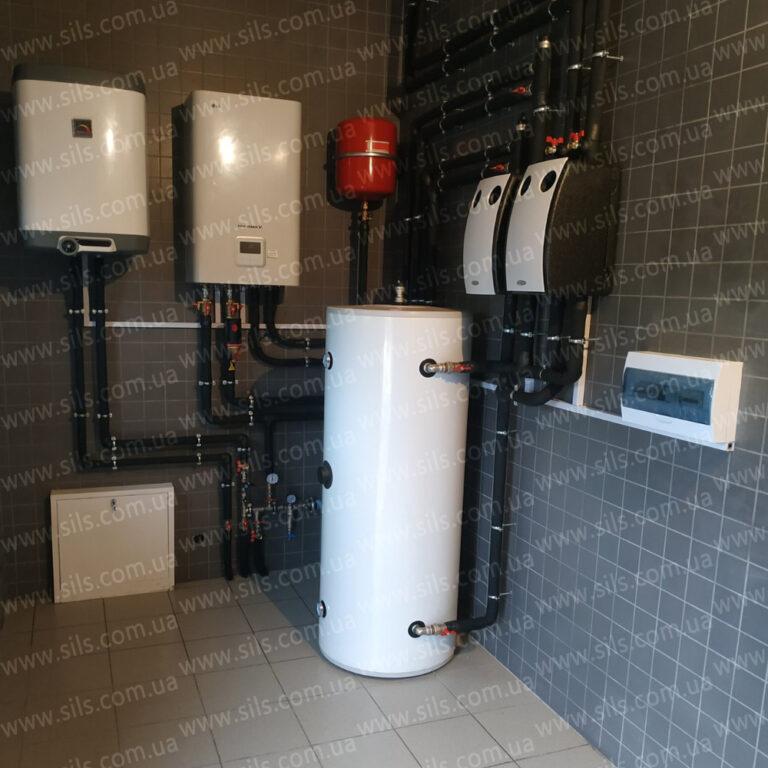Установка теплового насоса  LG 7 кВт в квартире г. Киев