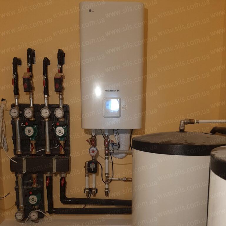 Установка теплового насоса  LG THERMA V LG HU123.U33 + HN1639 NK3 — 12кВт (3Ф) в квартире на седьмом этаже г. Запорожье