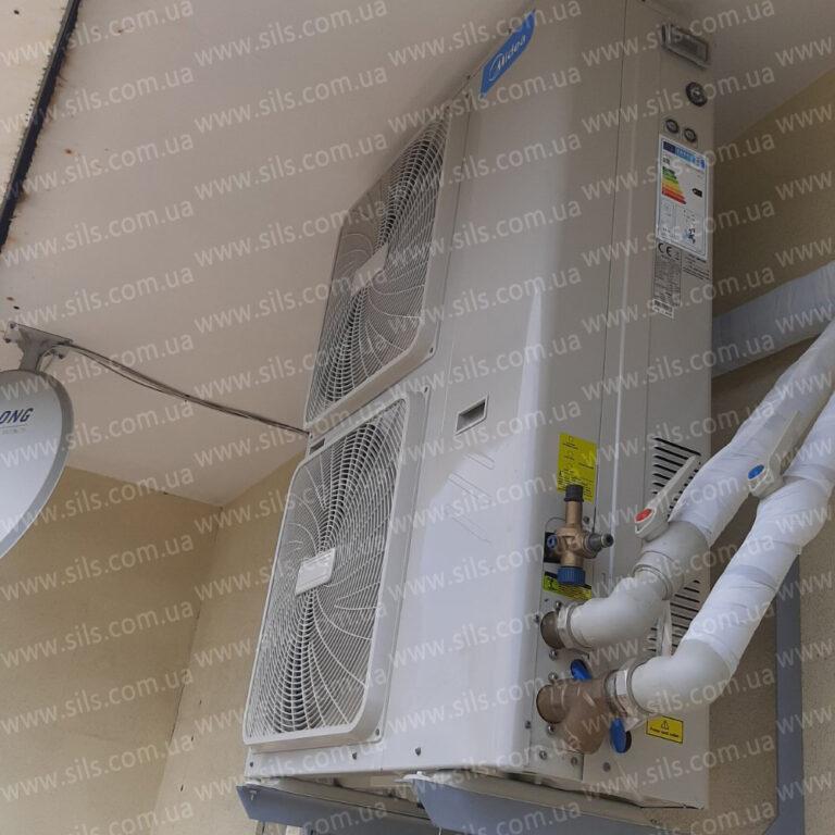 Установка теплового насоса  Midea 10 кВт в г.Днепр