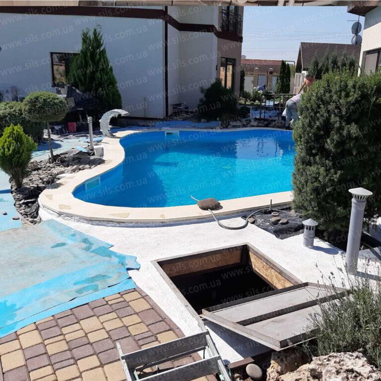 Установка теплового насоса (моноблок) для подогрева воды в бассейне