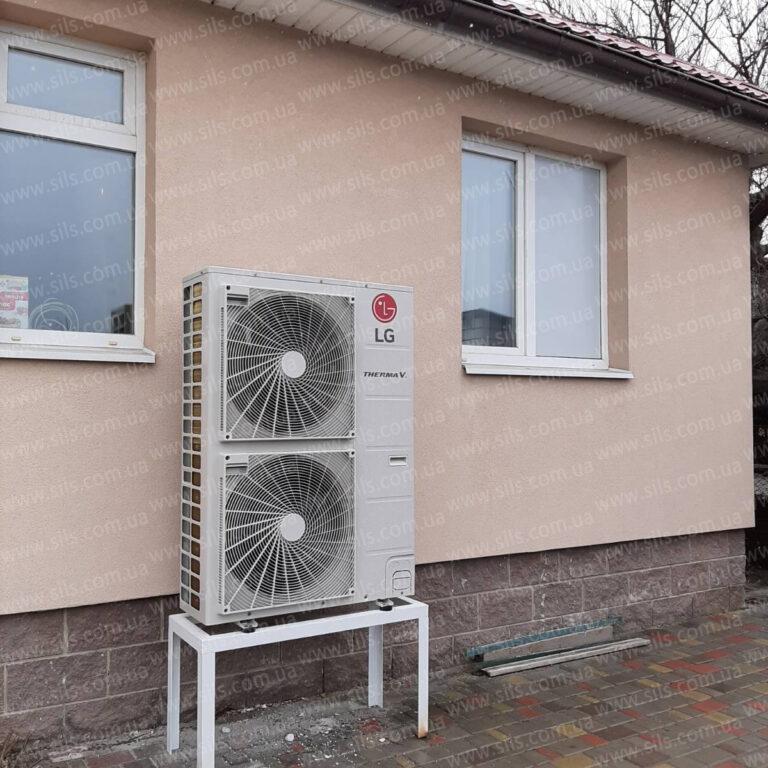 Установка теплового насоса LG HU123.U33 + HN1639 NK3 — 12кВт (3Ф) в г. Днепр