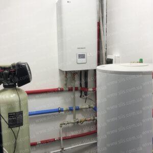 Тепловой насос воздух-вода LG   HU091.U43 + HN1616 NK3 (1ф) — 9кВт. Установка в г. Киев
